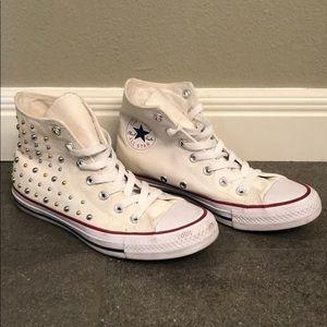 Studded High-Top Converse Chucks